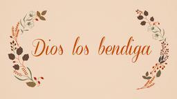 Thanksgiving dios los bendiga 16x9 PowerPoint Photoshop image