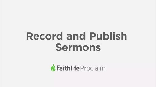 Record And Publish Sermons