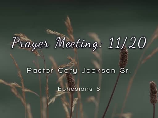 Prayer Meeting: 11/20
