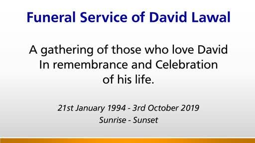 Funeral Service - David Lawal