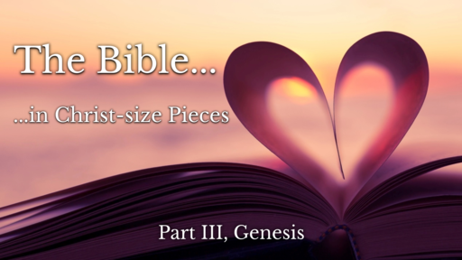 Part III (Genesis) The Bible in Christ-size Pieces
