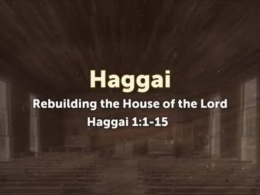 Rebuilding the House of the Lord: Haggai 1:1-15