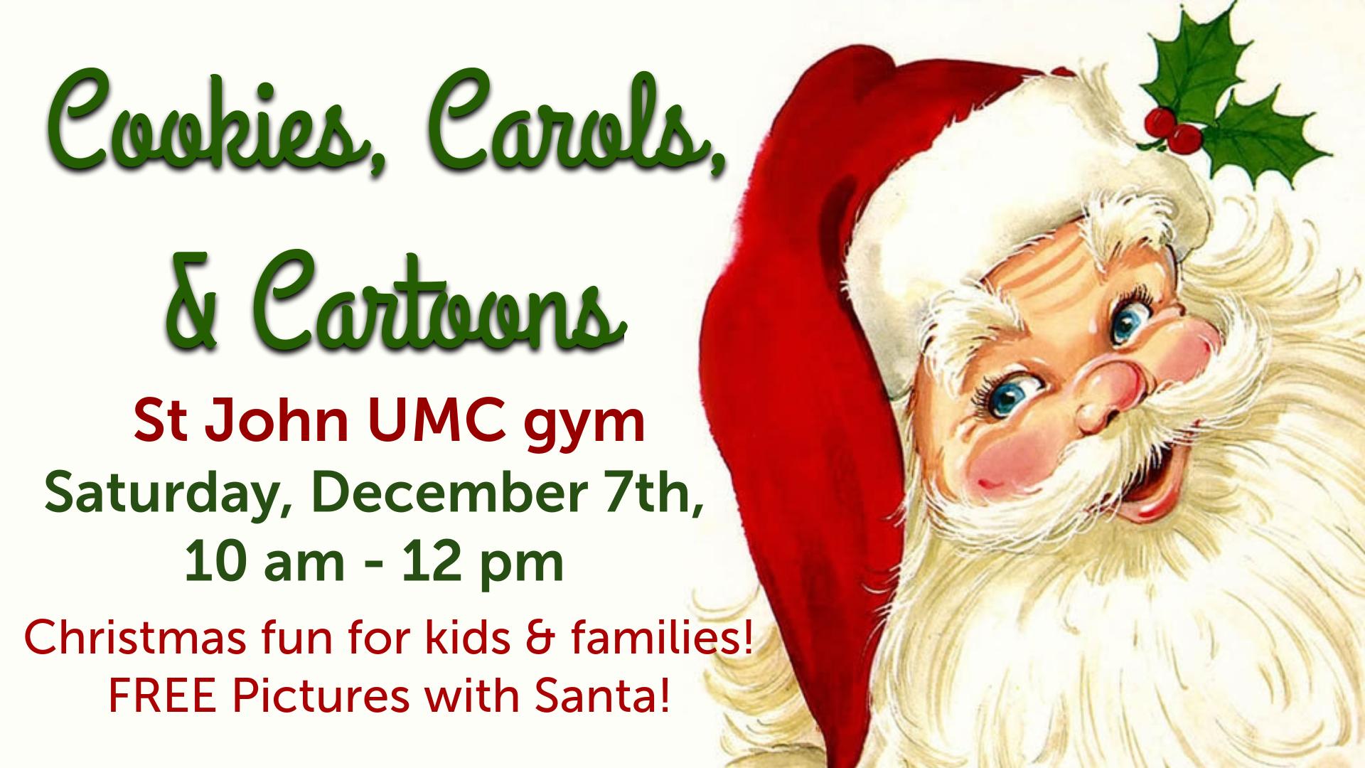Cookies, Carols, & Cartoons