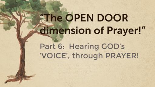 Hearing God's voice through Prayer