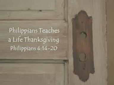 Phillipians 4:14-20