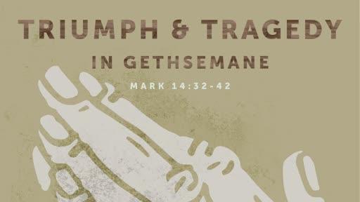 Triumph and tragedy in gethsemane.