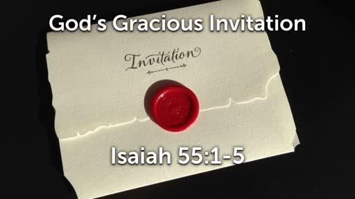 11-24-19 AM - God's Gracious Invitation