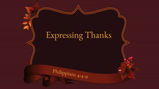 Expressing Thanks