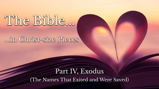 Part IV (Exodus) The Bible in Christ-size Pieces
