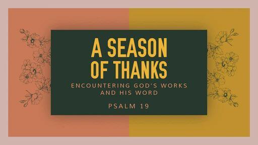 """A SEASON OF THANKS"""