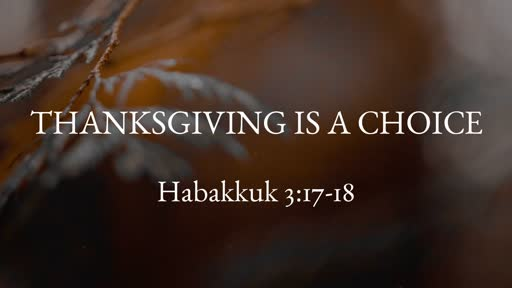 Thanksgiving is a Choice