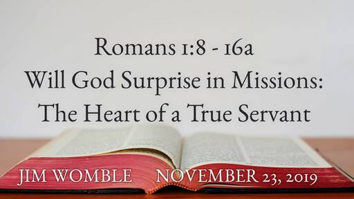 Will God Surprise in Missions