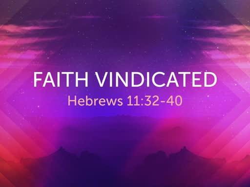 Faith Vindicated - RCN Worship 11-24-19