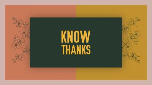 Know Thanks