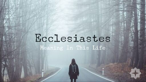 Ecclesiastes - Meaning In This Life