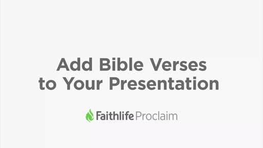 Add Bible Verses To Your Presentation