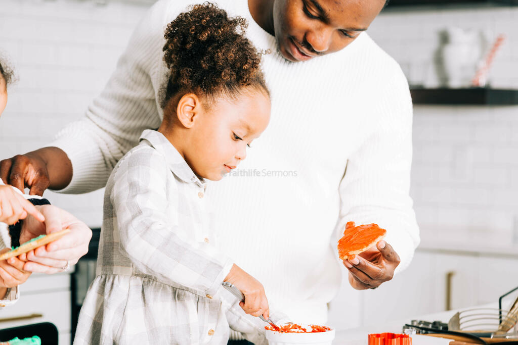 Father and Daughter Frosting Christmas Cookies large preview