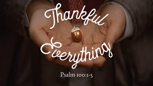 Thankful in Everything // Pastor David Spiegel