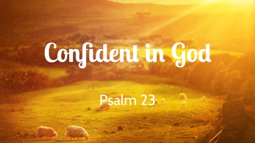 Psalm 23: Confident in God