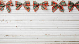 Plaid Christmas Bows  image 1