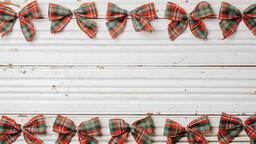 Plaid Christmas Bows  image 3