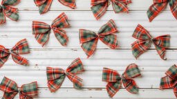 Plaid Christmas Bows  image 4