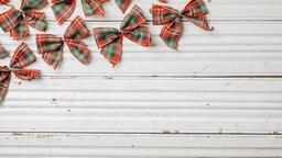 Plaid Christmas Bows  image 5