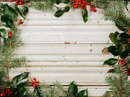 Rustic Christmas 2018 border of pine and holly 16x9 09e69dcc 44b6 455a 8915 2ffefe1466d3 image