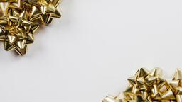 Gold Christmas Bows  image 1