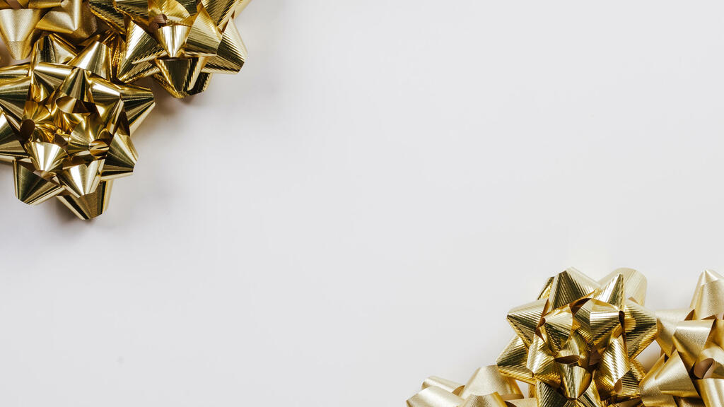 Gold Christmas Bows large preview