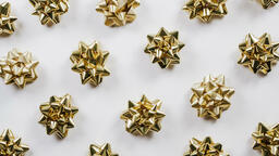Gold Christmas Bows  image 4