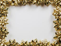 Gold Christmas Bows  image 7
