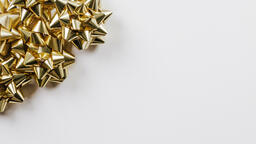 Gold Christmas Bows  image 8