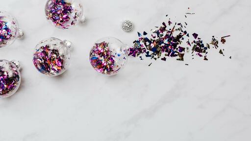 Christmas Confetti Ornaments