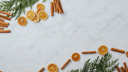 Orange and Cinnamon Stick Garland  image 3