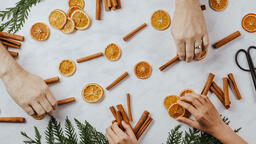 Orange and Cinnamon Stick Garland  image 1