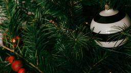 Striped Christmas Ornament  image 1