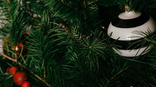 Striped Christmas Ornament