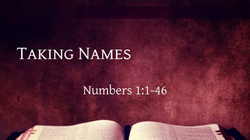 Numbers 1:1-46: Taking Names