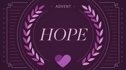 Advent Series Hope 16x9 PowerPoint Photoshop image