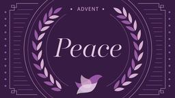 Advent Series Peace 16x9 PowerPoint Photoshop image