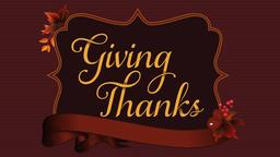 Giving Thanks header subheader 16x9 PowerPoint Photoshop image