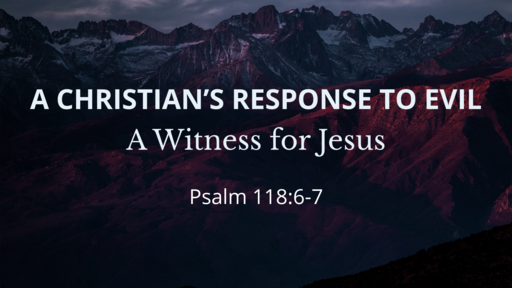 A Christian's Response to Evil