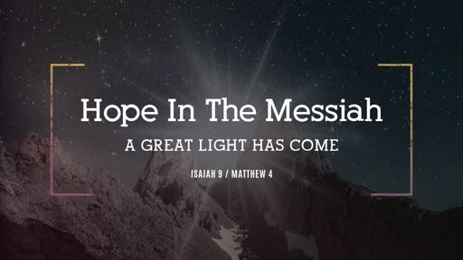 Hope in the Messiah