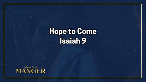 Hope to Come-December 1, 2019