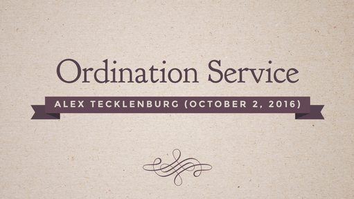 Ordination October 2, 2016