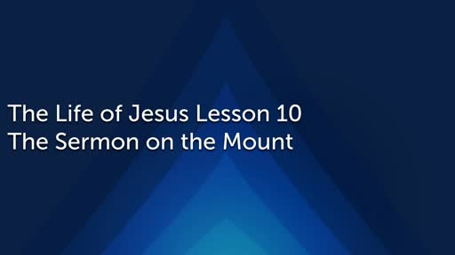 Wed 12.4.2019 The Sermon on the Mount