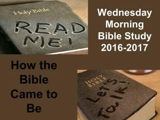 Bible Study, 10-5-16