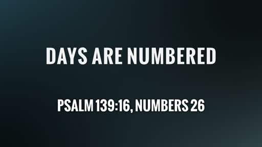 Numbers Matter to GOD