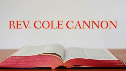 """God's Recipe For Peace"" Rev. Cannon"